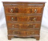 Small Georgian Style Serpentine Mahogany Chest of Drawers